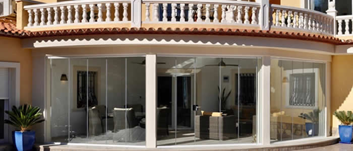 Crystal Windows Glass Curtains Costa Blanca